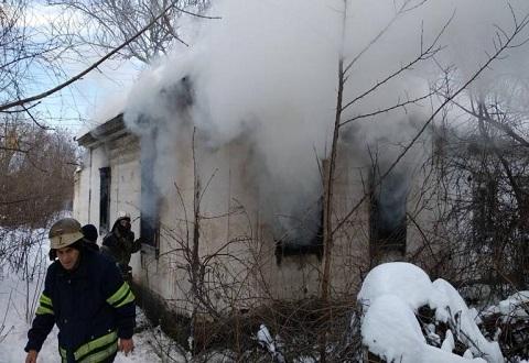 На пожаре в Каменском пострадал бездомный мужчина Днепродзержинск