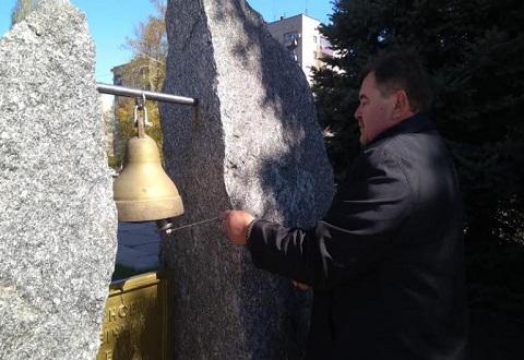 Каменчане провели мемориальный митинг памяти ликвидаторов Днепродзержинск
