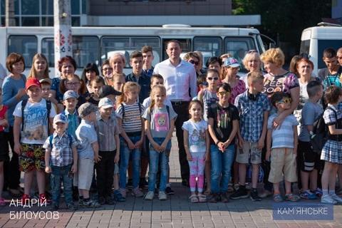 Воспитанники ДДСТ и дети-сироты г. Каменское побывали в цирке Днепродзержинск