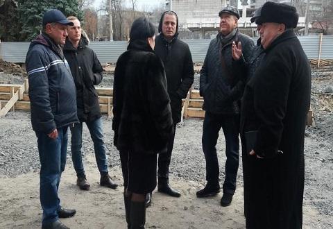 Мэр Каменского побывал на объекте реконструкции ЦПАУ Днепродзержинск