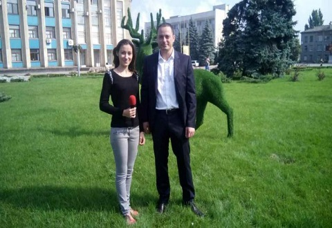 Клумба у горсовета Каменского пополнилась декоративными фигурами Днепродзержинск