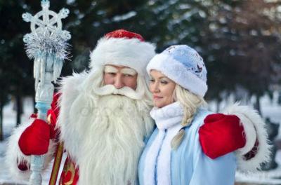 Поздравление от Деда Мороза и Снегурочки в Каменском Днепродзержинск