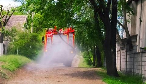 В Южном районе г. Каменское спасатели провели санобработку улиц  Днепродзержинск