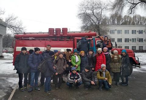 Школьники Каменского побывали на экскурсии в ГПСЧ № 22 Днепродзержинск