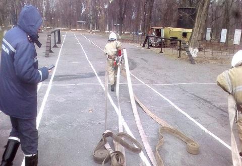 Практические занятия провели спасатели ГПСЧ № 22 г. Каменское Днепродзержинск