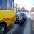 Сложная погода в Каменском привела к ДТП с участием иномарки и маршрутного автобуса