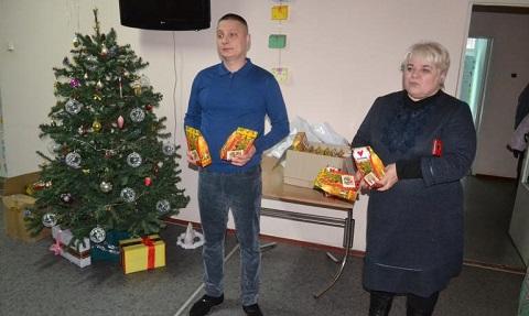 В ТЦСО Заводского района г. Каменское детей поздравили с Новым годом Днепродзержинск