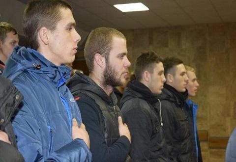 В Каменском прошли проводы юношей на службу в ряды ВСУ Днепродзержинск