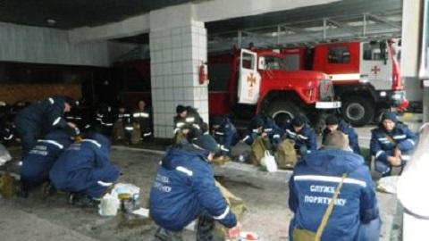 Спасатели ГСЧС г. Каменское провели проверку по команде «Сбор-авария» Днепродзержинск
