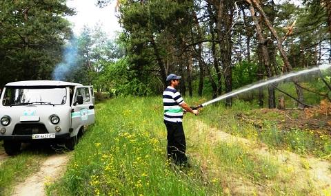 Спасатели г. Каменское провели учения на территории Куриловского лесничества Днепродзержинск