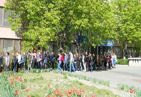 Студенты ЦППРК г. Каменское на практике отрабатывали эвакуацию Днепродзержинск