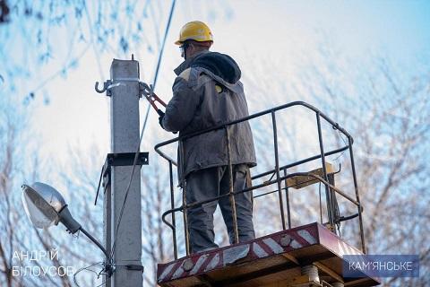 В Южном районе города Каменское энергетики проводят модернизацию сетей Днепродзержинск