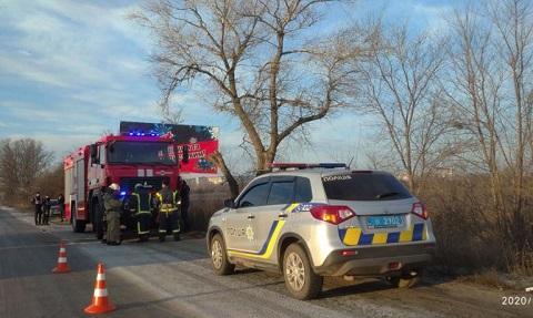 На въезде в г. Каменское  разбился автомобиль Днепродзержинск