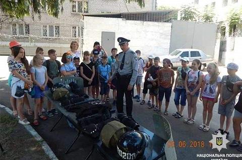 В гостях у полицейских г. Каменского побывали школьники УВК № 13 Днепродзержинск