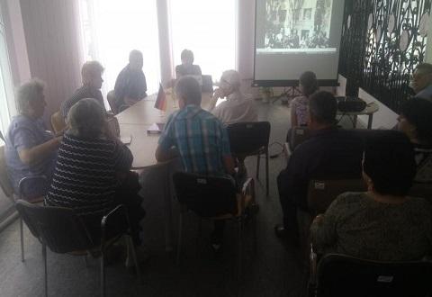 В Каменском о форсировании р. Днепр говорили на заседании клуба краеведов Днепродзержинск