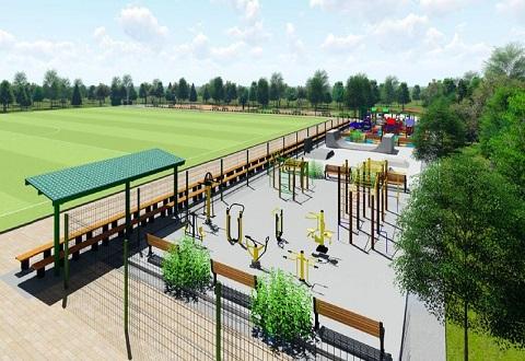 В детской футбольной школе г. Каменское  продолжается реконструкция Днепродзержинск