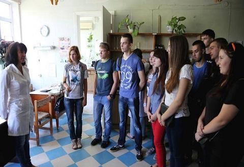Студенты энергетического техникума г. Каменское посетили КГС «Горводоканал» Днепродзержинск