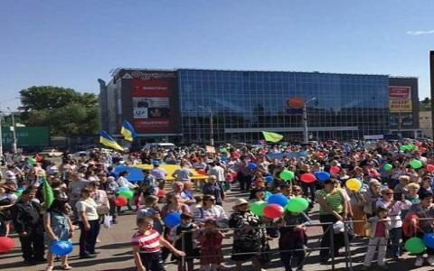 Каменчане вышли на марш поддержать традиционные семейные ценности Днепродзержинск