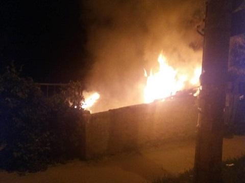В Каменском сгорел сарай Днепродзержинск