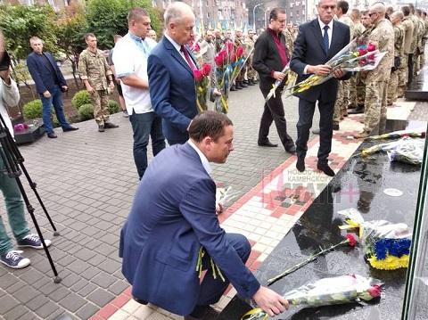 В г. Каменское торжественно прошло открытие Аллеи Героев Днепродзержинск