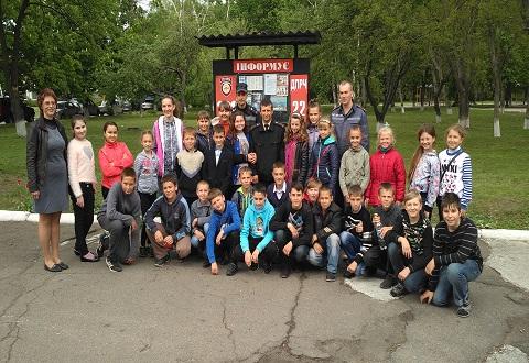В подразделении ГПСЧ № 22 г. Каменское провели экскурсию для школьников Днепродзержинск