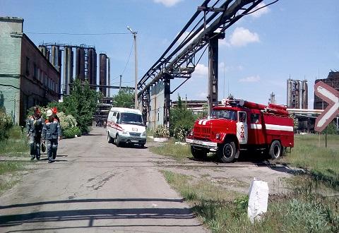 На промышленном объекте в Каменском прошли противоаварийные тренировки Днепродзержинск