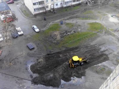 Благоустройство двора на левобережье Каменского Днепродзержинск
