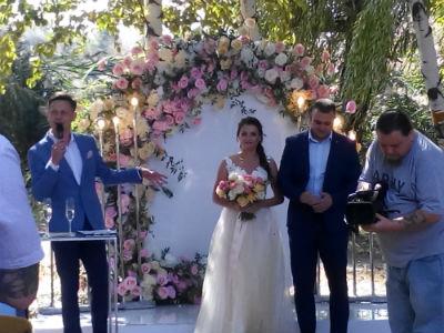 Бракосочетание в Левобережном парке в День города Каменское Днепродзержинск