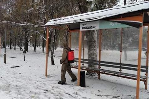Специалисты ГСЧС г. Каменское провели санитарную обработку на территории крупных предприятий Днепродзержинск
