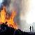Возле «АЗОТА» в Каменском тушили сильный пожар