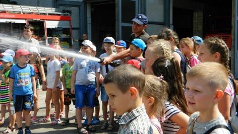 Дети г. Каменское побывали на экскурсии в ГПСЧ № 7 Днепродзержинск
