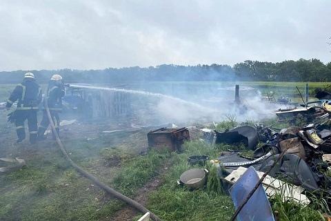 В Каменском районе горел автомобиль ВАЗ-2106 Днепродзержинск