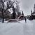Тяжелый снег привел к обрушению конструкции летнего кафе в Каменском