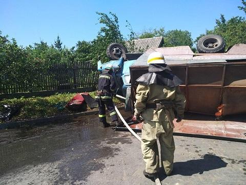 Автомобиль «Горводоканала» г. Каменское попал в ДТП Днепродзержинск