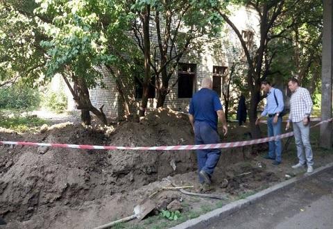 В двух домах по улице Сокола в Каменском заменили уличную канализацию Днепродзержинск