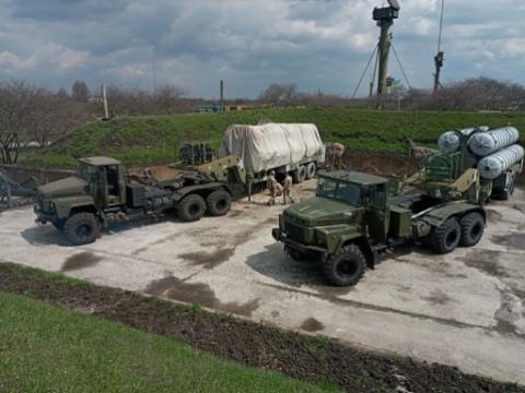 Военные подразделения возле г. Каменское отпраздновали годовщину образования Днепродзержинск