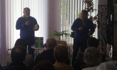 В Каменском выступили с презентацией книги братья Капрановы Днепродзержинск