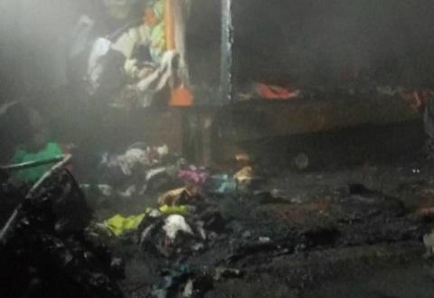 В Южном районе г. Каменское горел частный жилой дом Днепродзержинск