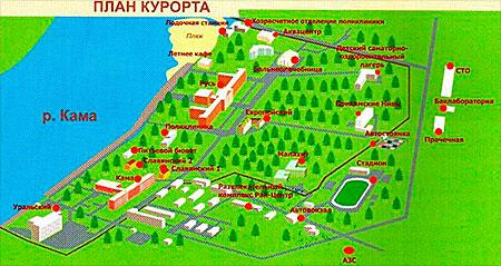 План курорта «Усть-Качка» Днепродзержинск