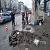 В центре Каменского провели ремонт люка сливного колодца