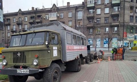 В Каменском продолжают ремонт трамвайных линий Днепродзержинск