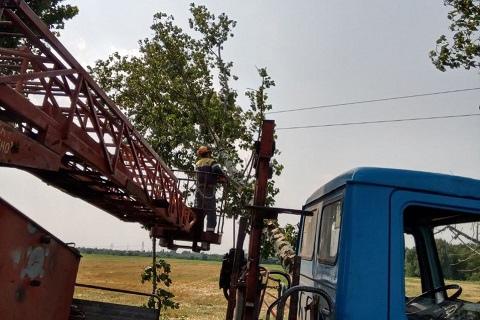 В Каменком районе ликвидируют последствия непогоды Днепродзержинск