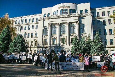 К участникам митинга в Днепре присоединились сотрудники ресторанов г. Каменское Днепродзержинск