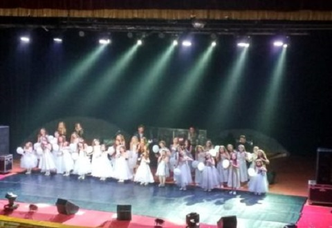 Каменский танцевальный коллектив выступил с известной певицей на одной сцене  Днепродзержинск