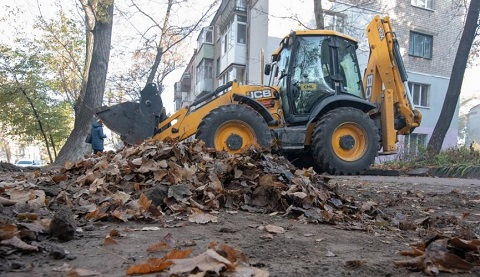 В г. Каменское начался месячник по уборке листвы Днепродзержинск