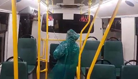 Общественный транспорт г. Каменское дезинфицировали Днепродзержинск