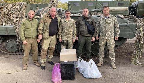 Мэр г. Каменское посетил бойцов в зоне ООС Днепродзержинск