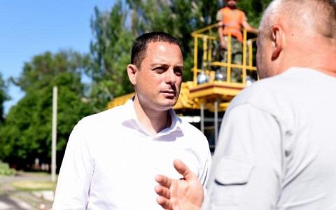 На объектах г. Каменское мэр А. Белоусов побывал с инспекцией Днепродзержинск