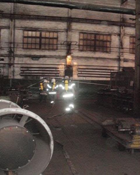 На «ДМК» Каменского провели тактико-специальные тренировки спасатели 35-й ГПСЧ  Днепродзержинск