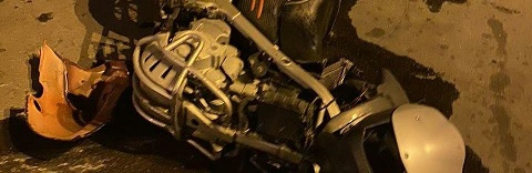 При попытке скрыться от полиции в Каменском погиб мотоциклист Днепродзержинск